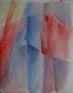 Fénytér, akvarell, papír, 30×24cm