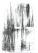 Ablak, tollrajz, 21,2×15,5cm