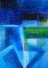 Becsomagolt vízpart, akvarell, papír, 68×48cm (magántulajdon)