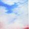 Négyszáz négyzetcentiméter talán égbolt, olaj, vászon, 200×200cm